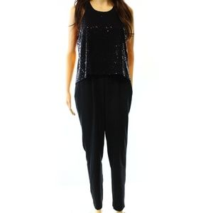New Cynthia Rowley Sequin Top Jumpsuit Keyhole